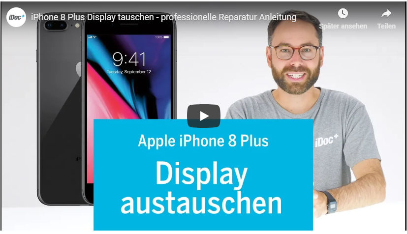 iphone 8+ Display tauschen tutorial video