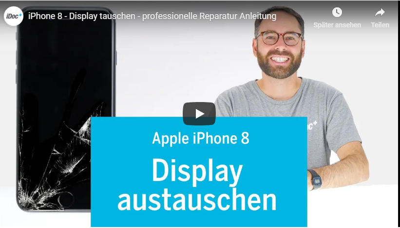 iphone 8display tausch reperatur video tutorial deutsch